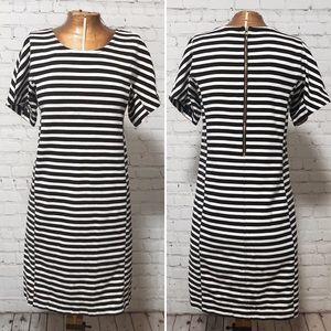 J. Crew Striped T-Shirt Dress EUC